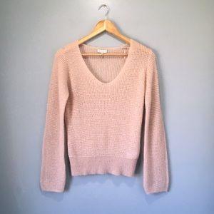 Gentle Fawn Pink Mohair Wool Blend Freida Sweater